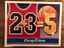 0b54b5bed586e 1997 Michael Jordan Bulls Chicago Tribune Newspaper Box Sign Hard To Find