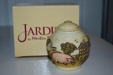 Jardinia Weaver'S Cottage Trinket Jar Lidded Countryside Farm Harmony Kingdom