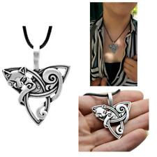 Collar De Gato Trinity Nudo Celta Colgante Amuleto de gran calidad animal Joyería Hombres