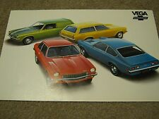 "1972 Chevrolet Vega Dealer Sales-Showroom Brochure, Poster GT, Kammback 11""x18"""