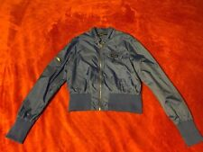 Members Only Women's Cropped Racer Jacket Size Medium