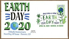 2020 EARTH DAY - CEC/FM AFDCS CACHET ~ FIRST DAY OF ISSUE ~ DCP CANCEL