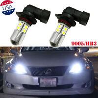 9005 HB3 6000K White LED DRL Daytime Running Light Bulb For Lexus IS Mitsubishi
