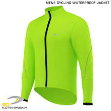 Mens Cycling Jacket High Visibility Waterproof Running Top Rain Coat Fluorescent
