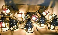 Galvanized Punched Metal Lantern String Lights In/Out Doors - 20 Ct.