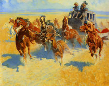 Remington Frederic Downing The Nigh Leader Canvas 16 x 20     #5064