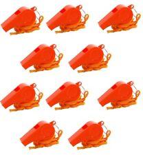 10) Whistles Orange Emergency Loud Signal Distress Whistle Survival Plastic Ball