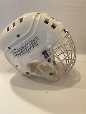 Vintage Cooper White SK 600 Hockey Helmet With Mask 1977