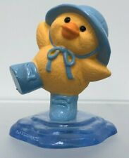 Hallmark Merry Miniature Easter 1991 Duck in Rain puddle Rain hat and boots blue