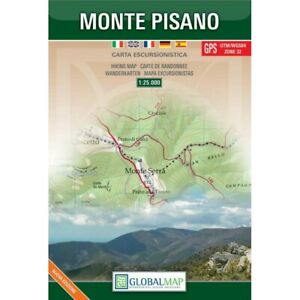 Monte Pisano   Carta Escursionistica   1:25 000   Cartina/Mappa   Global Map
