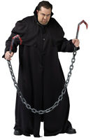 HALLOWEEN HOOKS & CHAINS  PLASTIC PROP DECORATION 70 INCHES-COSTUME NOT INCLUDED
