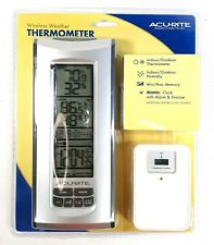 Acu-Rite Indoor Outdoor Wireless Weather Thermometer Clock w/ Thermo Hygro NIB