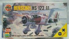 Vintage AIRFIX Henschel HS 123 A1 German Spanish Dive Bomber Aircraft Model Kit