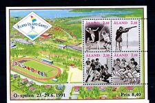 Aland MNH #58 Souv Sheet Island Games 1991 Sports Shooting Volleyball J001