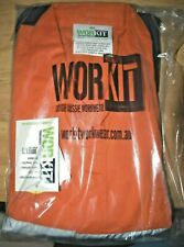 WORKIT 4002ON All Cotton 190 Lightweight Coveralls Taped 2 Tone Orange/Navy 112S