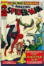Amazing Spider-Man Annual #1 Facsimile Reprint Cover Only Key 1st Sinister Six