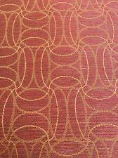 Crypton Fabric Geometric Interlocking Line Oval Red Orange 3.9 Yds Mayer Karma