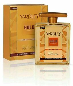 Yardley London Gold Elegance After Shave Lotion With Aloe Vera 100ml