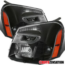 05-09 Chevy Equinox Replacement Black Headlight Pair Front Head Lamp Left+Right