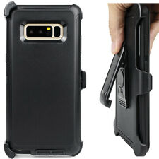 Cell Phone Case For Samsung Galaxy Note8 With Belt Clip Dust Proof Black Cover