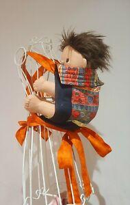 Baby Doll Mei tai style carrier indiginous aboriginal print babyborn  miniland