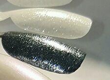Liquid Diamonds Silver Sparkle Nail Art Polish Glitter Top Coat
