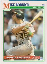 1991 Score #339 Mike Bordick Oakland A's Rookie Prospect Baseball Card