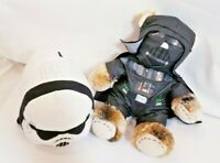 STAR WARS VIllain Plush bundle with RARE Build a Bear Darth Vader + Stormtrooper