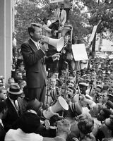 """New 8x10 Photo: Robert """"Bobby"""" Kennedy Gives Speech outside Justice Department"""