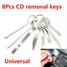 8Pcs Car Stereo CD Radio Head Unit Release Removal Key Tool Set Dash Audio Tools