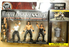 WWE Micro Aggression 2 inch Mini Wrestling Figures Deuce Khali Undertaker