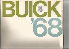 Orig. 1968 Buick, Skylark, LeSabre, Wildcat, Electra 225, Riviera sales brochure