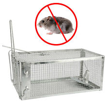 Animal Trap 27x14x11Cm Steel Cage for Small Live Rodent Control Rat Squirrel