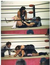 Heavyweight Girls Women Wrestling Match Action 2 Vintage 1999 Photos