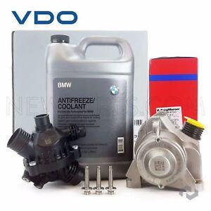 OEM Electric Engine Water Pump + Bolts + OEM Thermostat+BMW Antifreeze Coolant