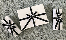 3 Collect Saks 5th Avenue Empty Boxes Tissue Ribbons Holiday Gift Box Cards New
