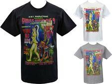 Mens Zombie Pin-up T-Shirt Lowbrow Art Monster Horror Werewolf Psychobilly