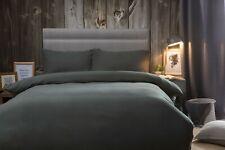 Belledorm 100% Brushed Cotton Flanelette Bed Linen Charcoal Grey 175gsm