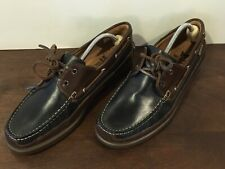 Mephisto Air Relax Spinnaker Blue/Brown Boat Shoes Sz. 10.5