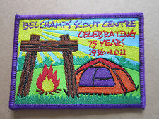 Belchamps Scout Centre 75 Years Cloth Patch Badge Boy Scouts Scouting (L2K)