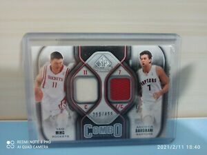 Card Yao Ming and Andrea Bargnani Game Used NBA limited 290/499