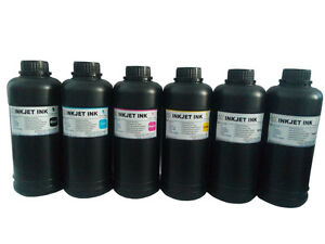 6x500ml ND® Premium LED UV Curable ink for DX5 DX7 Print head printers