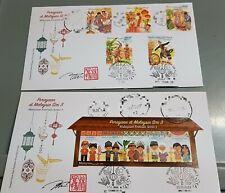 Autograph New Year Diwali Raya Aidilfitri Kaamatan Malaysian Festivals FDC 2019