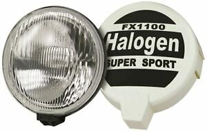 "Streetwize SWDL6 Headlamp Headlight Rally Spot Lamps Pair 8"" Large Halogen"