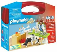 Playmobil 5653 City Life Collectable Small Vet Carry Case, Age 3+ Gift