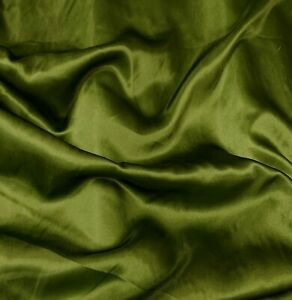 Satin budget dress fabric Olive Green Shiny satin silk satin dress craft fabrics