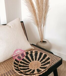 Wall Hanging Decor Round Seagrass Woven Set Plates Boho Vintage Wicker Rattan