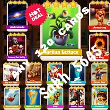 Take 120 Cards :- Coin Master (Martian Lettuce,Lenny The Lefty, Armstrong.. Etc)