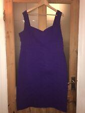 Julian Mcdonald Sweetheart Neck Body Con Stretch Dress Size 20