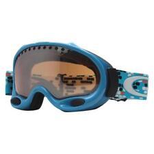 Oakley 25-386 A FRAME Aquamarine Blue w/ Black Iridium Lens Snow Ski Goggles .